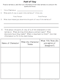 Point Of View Graphic Organizers Teaching Made Practical
