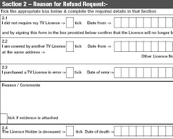 tv licence. tv licence refund form tv :