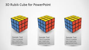 3d Rubik Cube Powerpoint Template