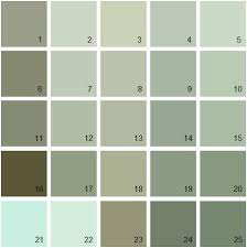 green paint color palette. find your paint colors fast and easy with house colors! thousands of benjamin moore green color palette