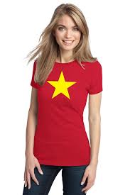 this international cos las vietnam flag shirt red with yellow star