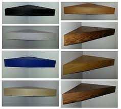 Oak Corner Floating Shelves Floating Corner Shelf Wood SOLID PINE BLACK WHITE BLUE OAK 13