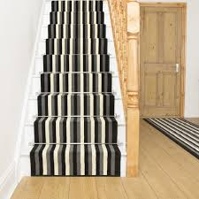 ... Broad 10 Black Grey & Cream Carpet Runners For Stairs By The Foot Ideas  ...