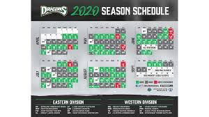 Dragons Announce 2020 Schedule Dayton Dragons News