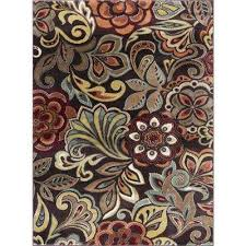 deco brown 9 ft x 13 ft area rug