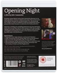 Amazon.com: Opening Night (1977) (Blu-Ray & DVD Combo) [ NON-USA FORMAT,  Blu-Ray, Reg.B Import - United Kingdom ]: Gena Rowlands, Ben Gazzara, Paul  Stewart, John Cassavetes, Joan Blondell, Zohra Lampert, Laura Johnson,