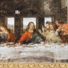 Stampa legno Ultima Cena Leonardo