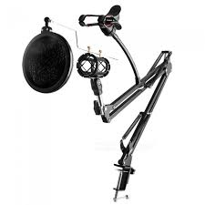 adjule desk recording microphone stand with phone holder