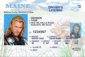 Maine License me Id Fake Drivers Scannable -