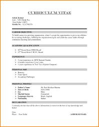 6 Samples Of Cv For Job Application Global Strategic Sourcing