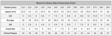 Yesstyle Shoe Size Chart Bodyline Order Victorianivka