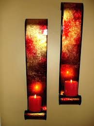 gold wall sconces for candles prodigious sconce candle holder red home ideas 30