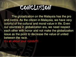 globalization in  the investment from the other countries increase 36 conclusion the globalization