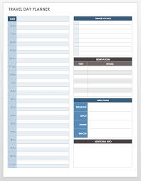 Trip Schedule Template Free Itinerary Templates Smartsheet