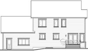 garage office plans. rear elevation transitional style large family home design 4 bedrooms 2 living rooms garage office plans