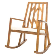 luxurious nuna acacia wood rocking chair with cushion white rocking chair cushions target
