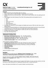 Audio Engineer Sample Resume Adorable Sample Engineering Resume Fresh Sample Resume For A Chef Example