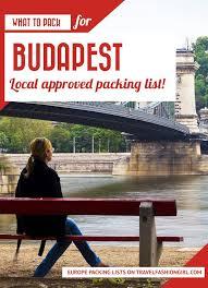 Budapest Travel Packing List