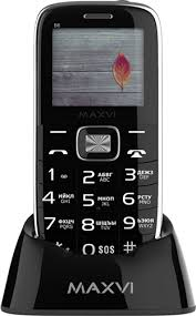 Мобильный <b>телефон Maxvi B6</b> Black - купить кнопочный ...