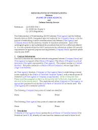 Memorandum Of Understanding 6 Free Templates In Pdf Word