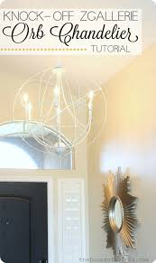 diy orb chandelier tutorial zgallerie light knock off houseofsmiths
