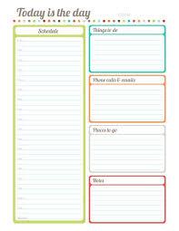 daily calendar template printable