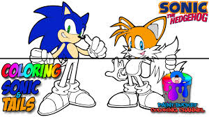 Small Picture Coloring Sonic the Hedgehog and Tails Sega Video Games Coloring