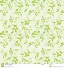Naadloos Patroon Met Groene Bladeren Vector Illustratie Natuurlijke