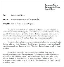Business Memo Format Proposal Memo Template