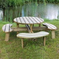 round table picnic bench