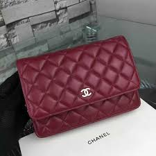 Classic Quilted WOC Bag in Burgundy Lambskin SHW A33814 & Chanel Classic Quilted WOC Bag in Burgundy Lambskin SHW A33814 Adamdwight.com