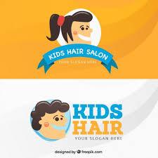 Kids Hair Salon Business Card Vector Free Download
