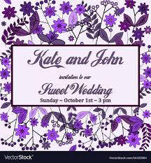 Flowers Templates Wedding Invitation Card With Flower Templates