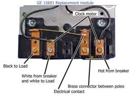 solved i have a new ge 15306 mechanical time switch and fixya please look at the image as a reverse image of your wiring poles t104 has poles a 1 2 3 4 black wire on intermatic pole 1 is the hot from breaker