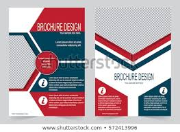 Red Blue Brochure Template Flyer Design Stock Vector Royalty Free
