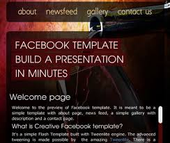 38 Beautiful And Creative Free Facebook Fan Page Templates