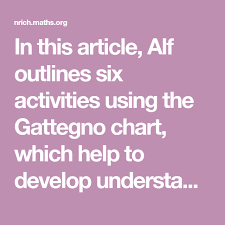 Gattegno Place Value Chart In This Article Alf Outlines Six Activities Using The