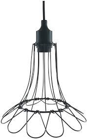 Triv Hanglamp Bloem Metalen Draad Hanglamp Zwart ø 13 Cm
