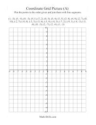 Coordinate Grid Worksheets Grade For Map Graph Paper Art