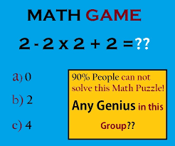 basic but tricky math puzzles with answers