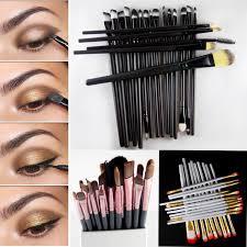 pro 20pcs 1set hand to makeup brushes set powder foundation eyeshadow eyeliner lip brush makeup mac kit whole