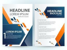 Brochure Template Design With Abstract Modern Style Free On Sample