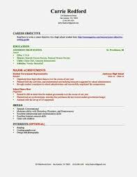 High School Resume Template No Work Experience