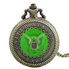 navy pocket watch antique us navy pattern pocket watch vintage quartz necklace chain pendant gift