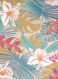 delectably yours com flower jungle tropical coastal beach rug by united weavers regional concepts