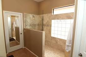 pony wall shower photo of retro pro kitchen and bath remodeling chandler united states half wall pony wall shower