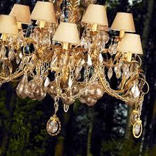 ornate high end gold swarovski crystal chandelier