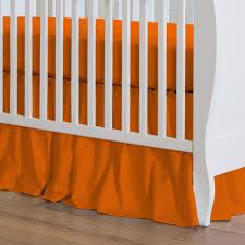 orange crib bed skirt  creative ideas of baby cribs