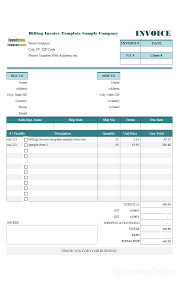 sample billing invoice simple invoice for construction business