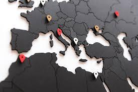 "<b>Пазл</b> - наклейка <b>Mimi</b> ""World map <b>true puzzle</b>"", 150х90 см, черная ..."